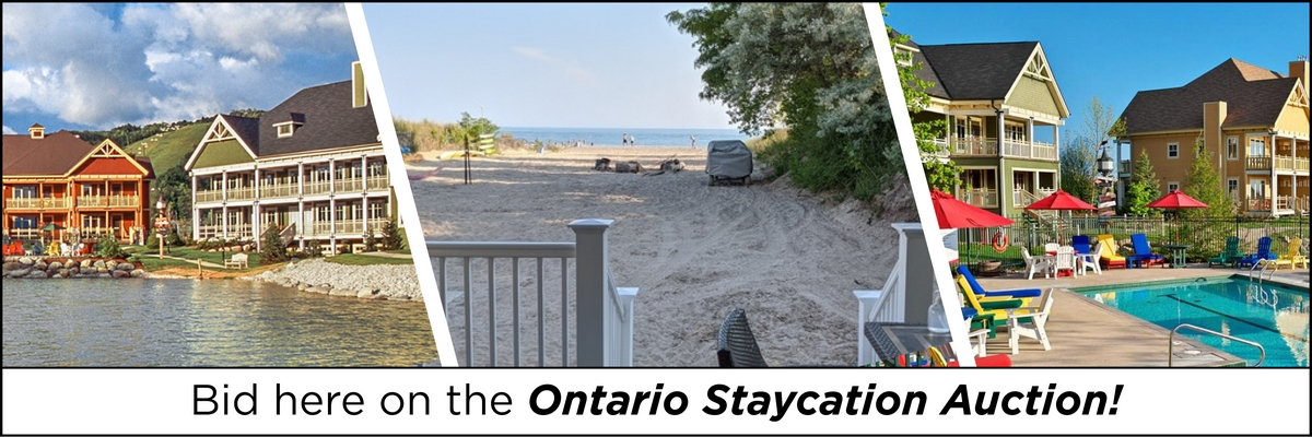 Bid now on the Ontario Staycation Auction