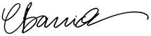 Cathy Barrick Signature